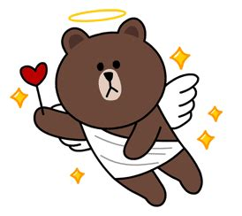 Kaos Line Emoticon Brown 17 brown cony png pack sticker line