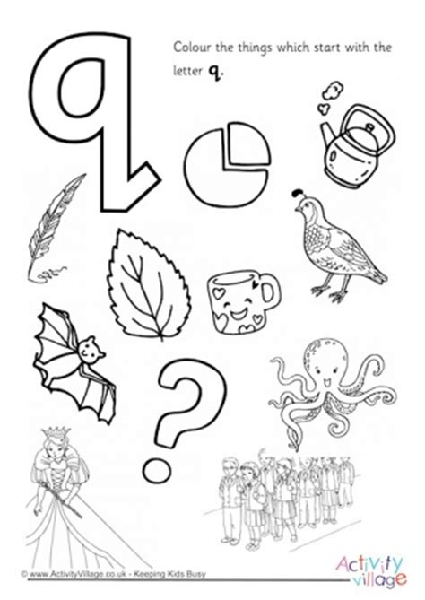 coloring pages that start with the letter q initial letter colouring pages