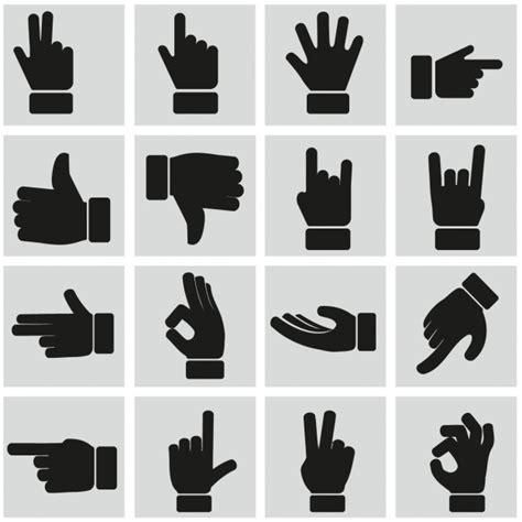 imagenes de simbolos con las manos signos con las manos descargar vectores gratis