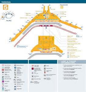 Airport Map Chicago O Hare by O Hare Airport Terminal 5 Map