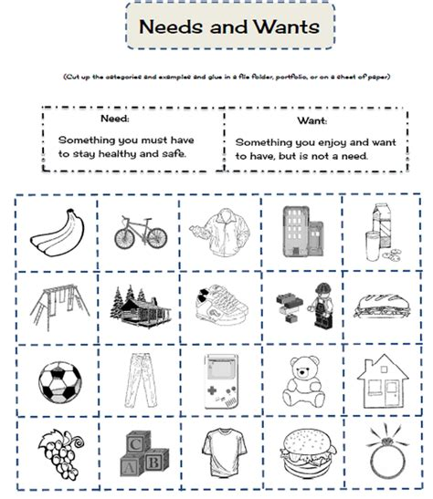 kindergarten activities needs and wants free worksheets 187 social studies kindergarten free math