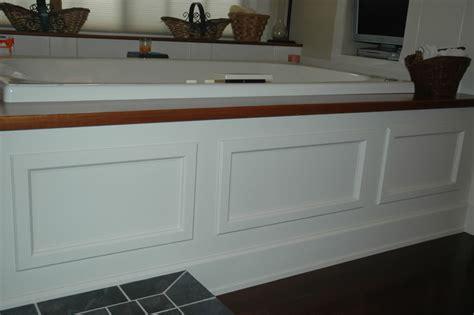 bathtub wood panel framing a tub deck surround bathrooms forum gardenweb