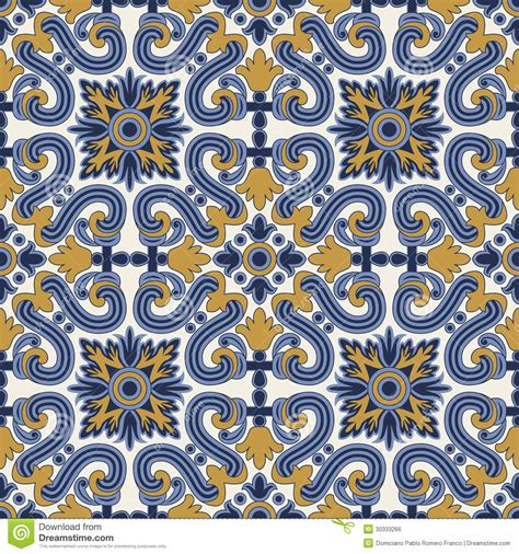 yellow vintage pattern classic vintage seamless pattern in blue and yellow