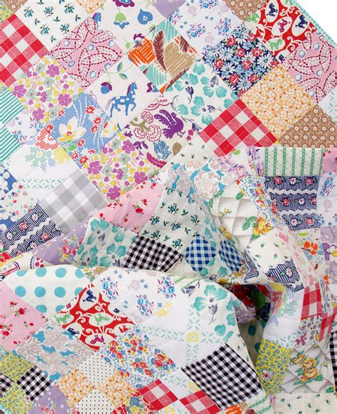 Vintage Quilt by Pepper Quilts Vintage And Feedsack Fabric Quilt