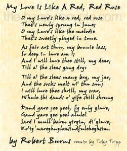 You Decorated My Life Lyrics Robert Burns Famous Love Poem Quot My Love Is Like A Red
