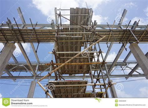 Pipe Rack Scaffolding by Completed Scaffold Stock Photo Image 43094029