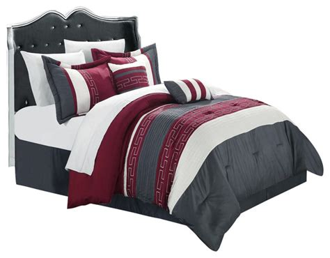gray and burgundy bedroom carlton burgundy grey white king 10 piece comforter bed