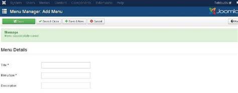 tutorial create website using joomla joomla tutorials create menus technology homesite