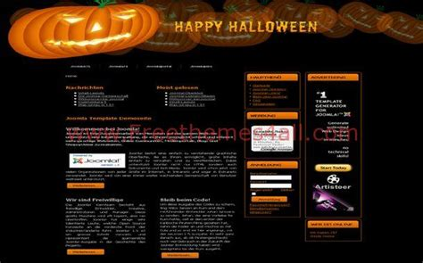 black brown pumpkin joomla theme template download