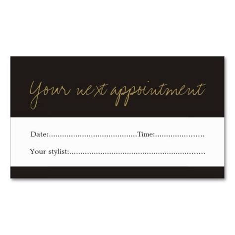 hair salon appointment card template 17 best images about business cards appointment on