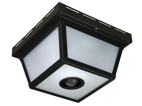Motion Activated Ceiling Light Fixture Four Light Motion Activated Indoor Outdoor Ceiling Light Fixture Black Sl 4305 Bk Bulbs