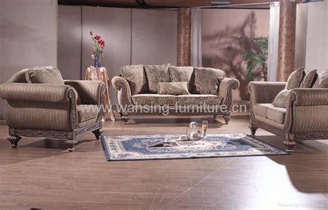 Living Room Furniture Companies Antique Royal Solid Wood Furniture Leather Fabric Sofa Set Living Room Furniture Manufacturers
