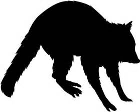 raccoon and silhouette design store view design 46385 raccoon