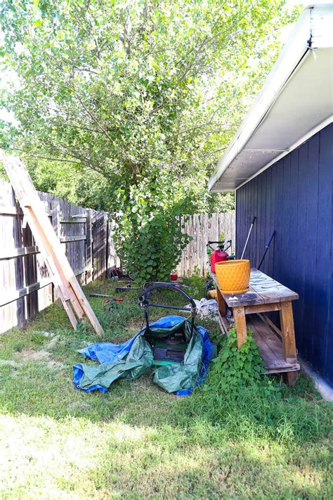 backyard cleaning a quick backyard clean up with ryobi love renovations