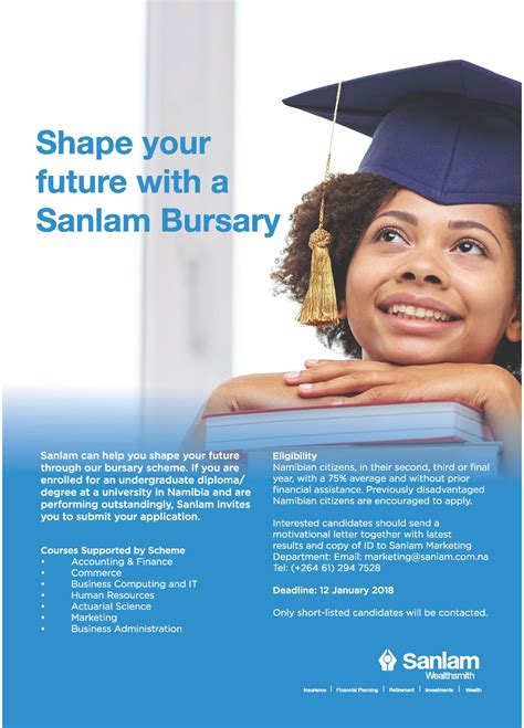 Mba Bursaries 2018 by Sanlam Bursary Scheme 2018 For Namibian