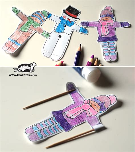 Christmas Decorations Ideas To Make At Home by Krokotak Ice Cream Skiers