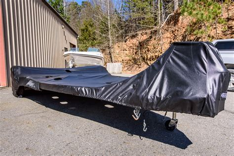 ski boat runabout covers black dog design inc - Boat Trailer Cover