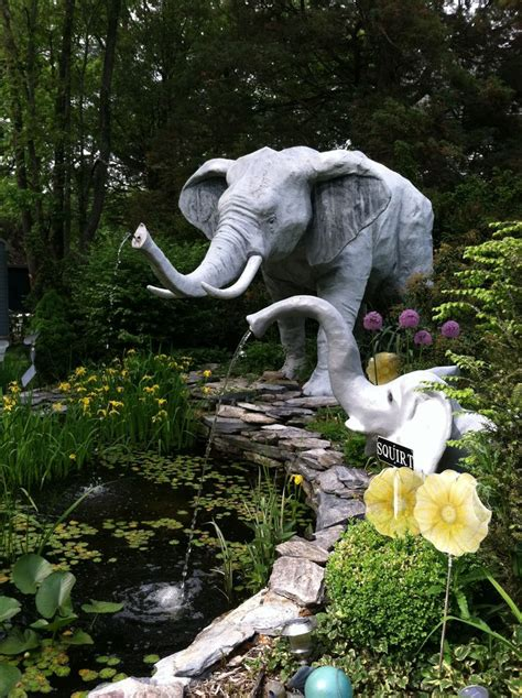 Elephant In The Garden by Elephant Garden Elephants And Heffalumps