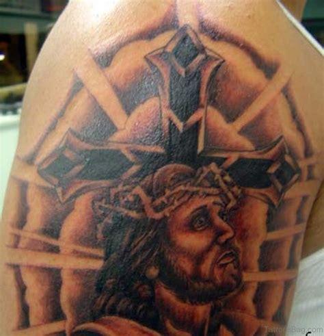tattoo shoulder jesus 61 classic jesus tattoos on shoulder