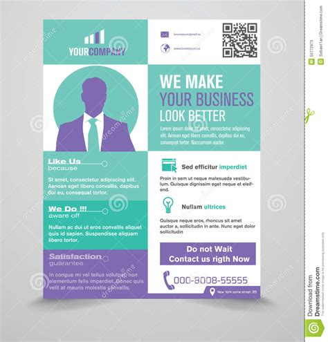 flyer template editor business flyer template stock vector image 55772973