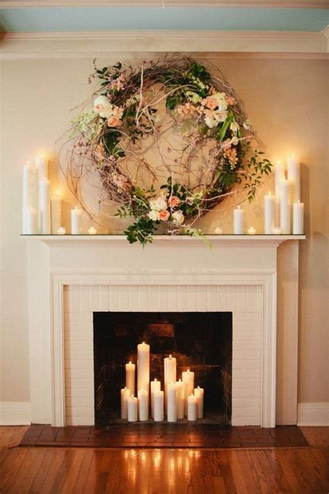 fireplace decorations best 25 wedding fireplace decorations ideas on