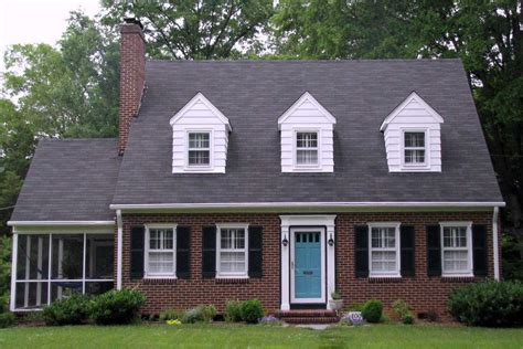 gorgeous cape cod style house colors with brick wall ideas combine with gray roof tile