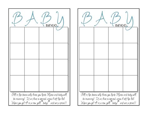 baby bingo template what 5 teach me baby shower bingo