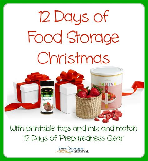 12 days of gift idea 12 days of featuring food storage gifts