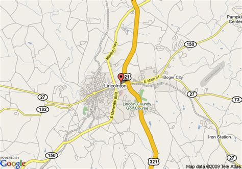 map of comfort inn lincolnton lincolnton