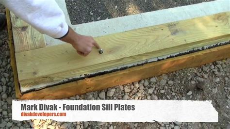 anchoring foamboard to concrete wall custom home builder tips foundation sill plates divak