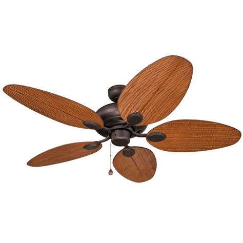52 outdoor ceiling fan shop harbor breeze tilghman 52 in aged bronze downrod or