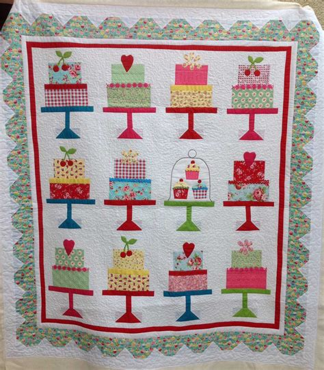 Of Cake Quilt by Fabadashery Longarm Quilting Lori Holt Cake Walk Quilt