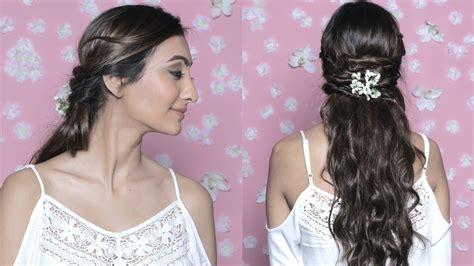 easy hairstyles glamrs floral crisscross half up easy flower hairdo glamrs