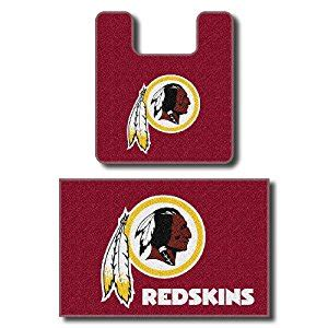 redskins bathroom set amazon com washington redskins two piece bath rug set