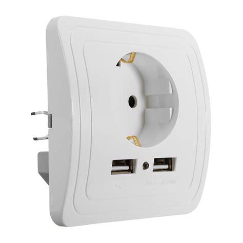 Joyetech 1a Wall Adapter Eu Charger Wall Adaptor For Vaporizer 2 1a dual usb ports wall charger power adapter socket outlet panel eu mount alex nld