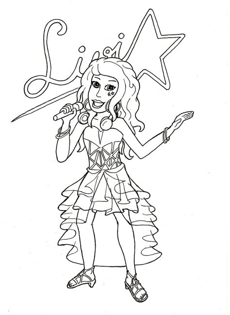lego friends livi coloring pages lego friends livi by fff66 on deviantart