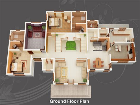 floor plan in 3d evens construction pvt ltd 3d house plan 20 05 2011
