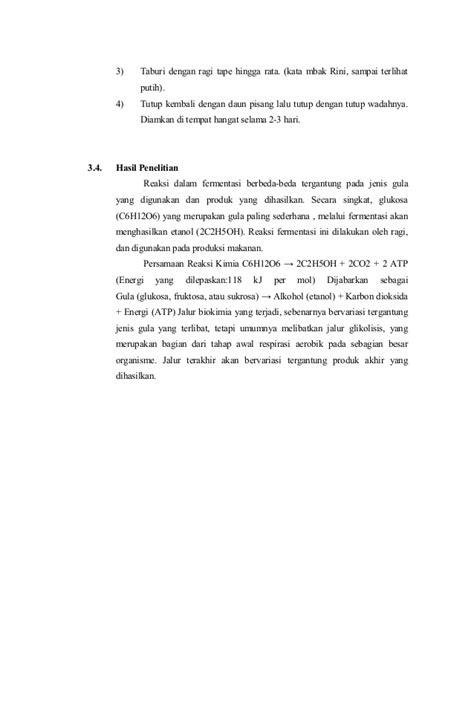 laporan praktikum membuat tape ketan putih makalah laporan pembuatan tempe