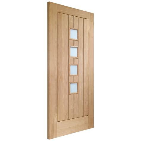 Oak Glass Doors Xl Joinery Suffolk Oak Un Finished Obscure Glass Door Leader Doors