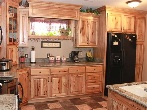 Hickory Kitchen Cabinets Natural Characteristic Materials Pictures Kitchen Cabinets