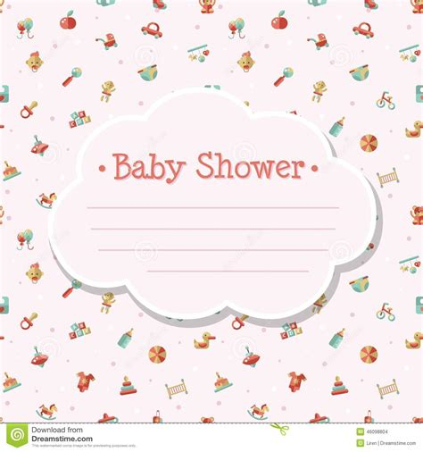 baby layout vector illustration of flat design cute baby shower stock vector