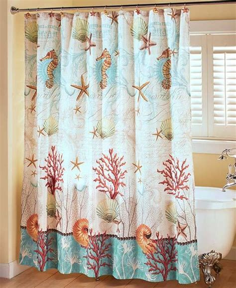 coastal shower curtain coastal shower curtain sea shell rustic decor ocean beach