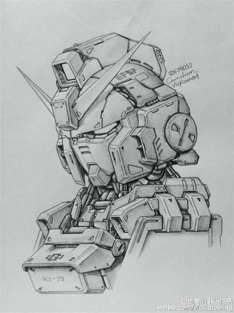 Gundam Drawing gundam awesome gundam sketches by vickidrawing