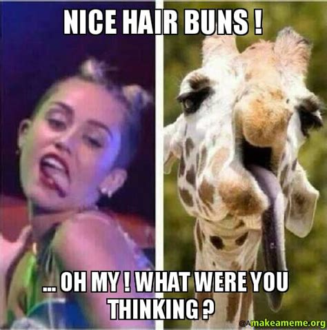 Nice Hair Meme - nice hair buns oh my what were you thinking
