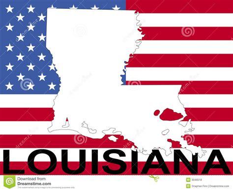 louisiana map flag map of louisiana with flag royalty free stock photos