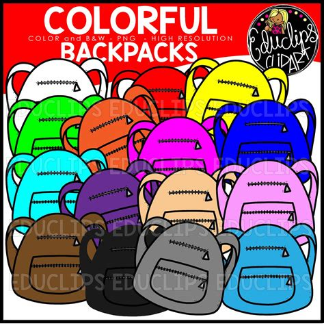 colorful backpacks colorful variety clip pack 2 welcome to educlips store