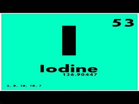 Iodine Periodic Table by Study Guide 53 Iodine Periodic Table Of Elements