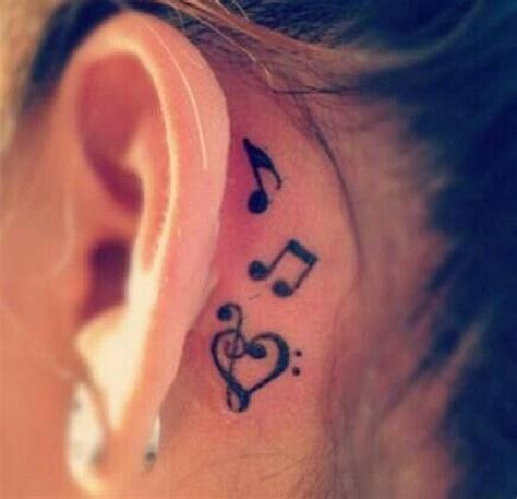 orchid tattoo behind ear 35 awesome music tattoos for creative juice