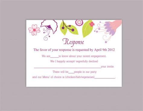 rsvp template word diy wedding rsvp template editable word file instant