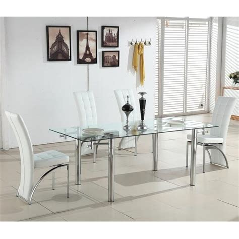 glass dining table with white chairs extending glass dining table with 6 ravenna white